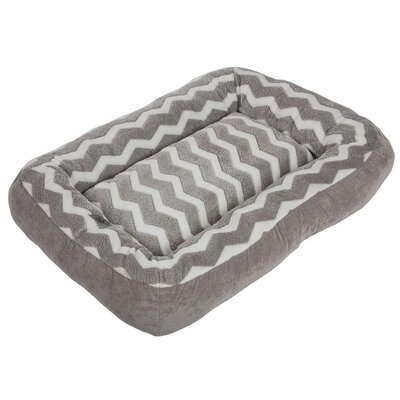 Low Bumper Zig Zag Bolster Dog Bed
