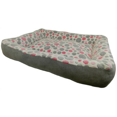 Cute as a Button Low Bumper Bolster Dog Bed Color: Pink / Grey