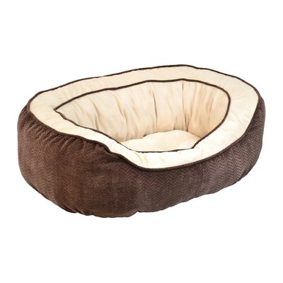 "Chevron Gusset Daydreamer Bolster Dog Bed Size: Small (21"" L x 19"" W), Color: Chocolate"