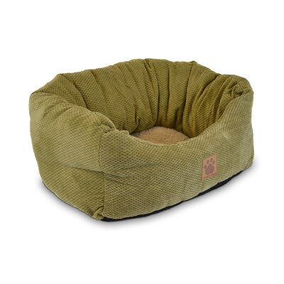 "Natural Surroundings Spot Tailored Daydreamer Bolster Dog Bed Color: Coffee Liqueur Chenille, Size: Large (32"" L x 25"" W)"