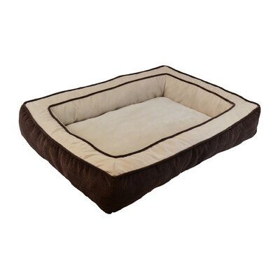 Chevron Chenille Gusset Low Bumper Floor Bolster Dog Bed Color: Chocolate