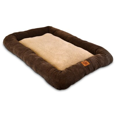 Natural Surroundings Low Bumper Crate Dog Mat Size: Large (37 L x 25 W)