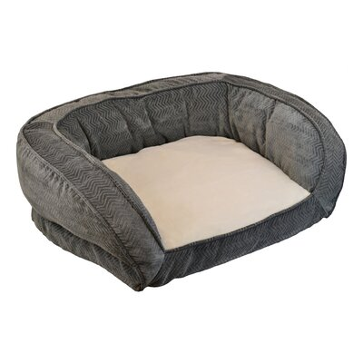 Maryann Gusset Couch Daydreamer Pet Bed Size: Small (32 H x 25 W), Color: Grey