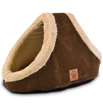 Maupin Hide and Seek Dog Dome Color: Coffee Liqueur Chenille