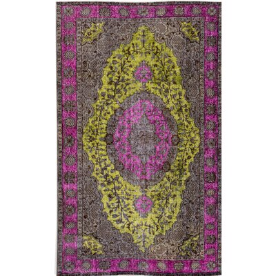 Revival Hand-Knotted Purple/Yellow Area Rug