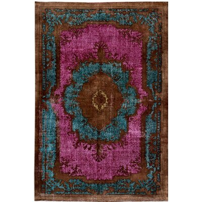 Revival Hand-Knotted Brown/Pink/Green Area Rug