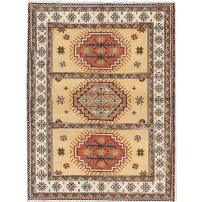 Kazak Hand-Knotted Brown/Orange/Beige Area Rug