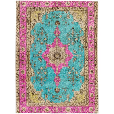 Revival Hand-Knotted Pink/Blue/Beige Area Rug