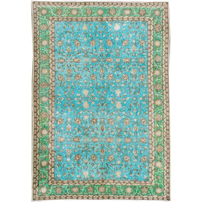 Revival Hand-Knotted Beige/Green/Blue Area Rug