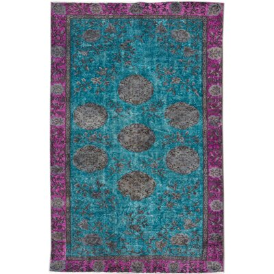 Revival Hand-Knotted Blue/Purple/Gray Area Rug