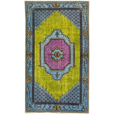 Revival Hand-Knotted Yellow/Pink/Blue Area Rug