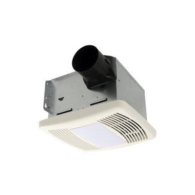 HushTone 80 CFM Energy Star Bathroom Fan With Light