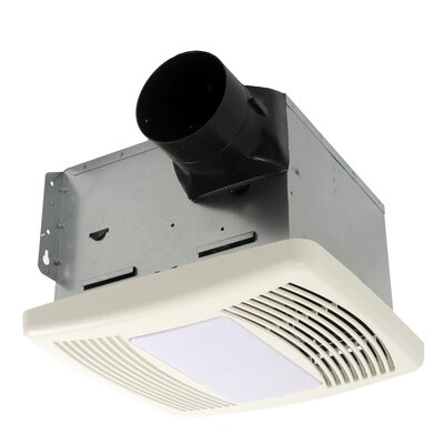 HushTone 150 CFM Energy Star Bathroom Fan With Light