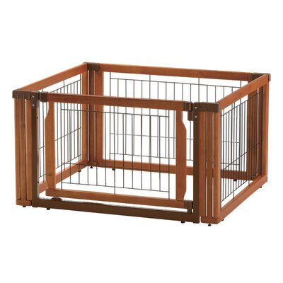 Convertible Elite 4-Panel Pet Gate Size: 20.1 H x 91.7 W x 29.1 D