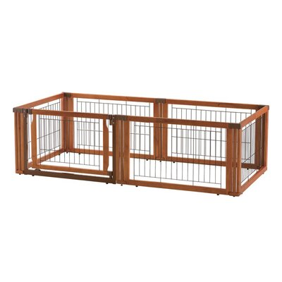 Convertible Elite 6 Panel Pet Gate Size: 20.1 H x 135.8 W x 29.1 L