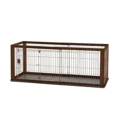 Expandable Pet Crate Color: Brown/Black, Size: Medium