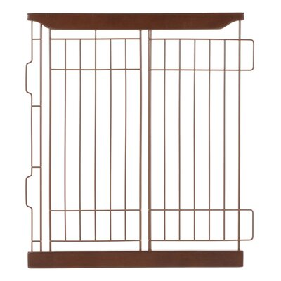 Expandable Pet Crate Divider Color: Dark Brown, Size: Medium