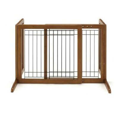 Freestanding Pet Gate Size: Small (20.1 H x 26.4 - 40.2 W x 17.7 D), Finish: Autumn Matte Brown