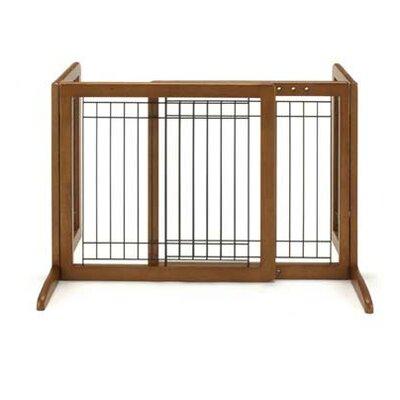 Freestanding Pet Gate Size: Small (20.1 H x 26.4 - 40.2 W x 17.7 D), Finish: Autumn Matte Brown
