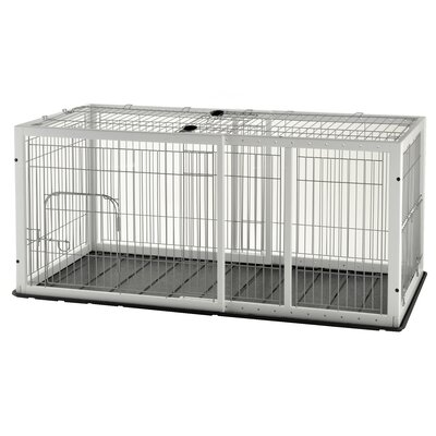 Expandable Pet Crate Color: Origami White