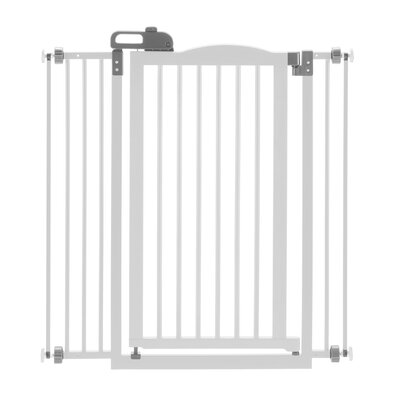 One-Touch Pressure Mounted Pet Gate Finish: White, Size: 38 H x 36 W