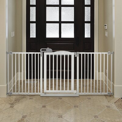 Richell One-Touch Wide Pressure Mounted Pet Gate II Finish: Origami White