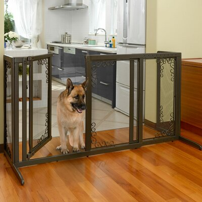 Richell Deluxe Freestanding Mesh Pet Gate