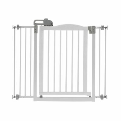 Richell 1-Touch Pressure Pet Gate Finish: White