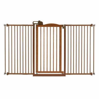 Richell 1-Touch Tall and Wide Pressure Mounted Pet Gate
