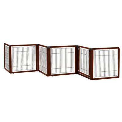 Convertible Elite Pet Gate Finish: Cherry Brown
