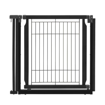 Convertible Elite Door Panel Free Standing Pet Gate Finish: Black