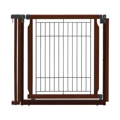 Convertible Elite Door Panel Free Standing Pet Gate Finish: Cherry Brown