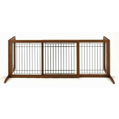 Freestanding Pet Gate Size: Large (20.1 H x 39.8 - 71.3 W x 17.7 D), Finish: Autumn Matte Brown