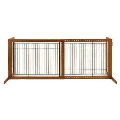 Free Standing 2 Panel Pet Gate Size: Small (27.6 H x 28.3 - 47.2 W x 23.6 D), Finish: Autumn Matte Brown