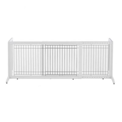 Freestanding Pet Gate Size: Large (20.1 H x 39.8 - 71.3 W x 17.7 D), Finish: Origami White