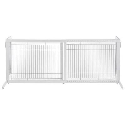 Free Standing 2 Panel Pet Gate Size: Large (27.6 H x 39.4 - 70.9 W x 23.6 D), Finish: Origami White