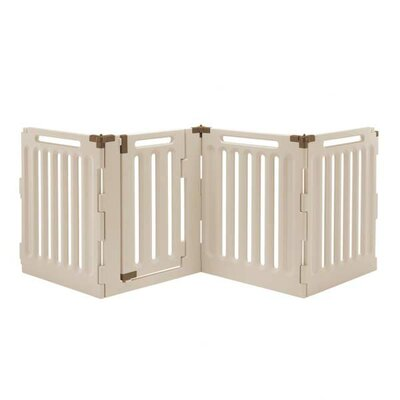 Convertible Indoor/Outdoor Pet Pen Panels: 4, Size: 20.3 H x 33.1 W x 33.1 D