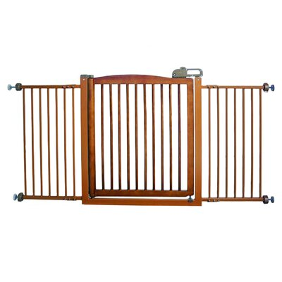 Richell One-Touch Wide Pressure Mounted Pet Gate II Finish: Autumn Matte Brown