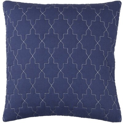 Reda Pillow Cover Size: 18 H x 18 W x 1 D, Color: Navy