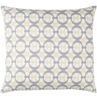 Lina Cotton Pillow Cover Size: 18 H x 18 W x 1 D, Color: White / Gray