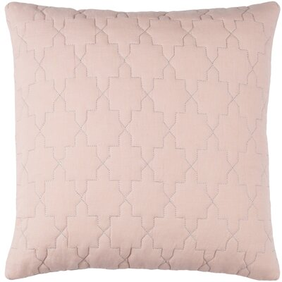 Reda Pillow Cover Size: 18 H x 18 W x 1 D, Color: Peach