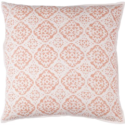 Dorsay Pillow Cover Size: 20 H x 20 W x 1 D, Color: Red / Pink