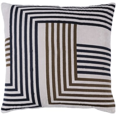 Intermezzo Cotton Pillow Cover Size: 18 H x 18 W x 1 D, Color: Gray / Navy