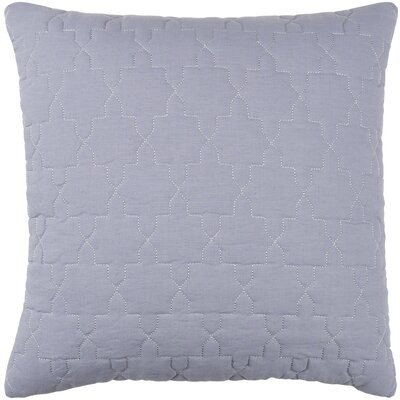 Reda Pillow Cover Size: 18 H x 18 W x 1 D, Color: Medium Gray