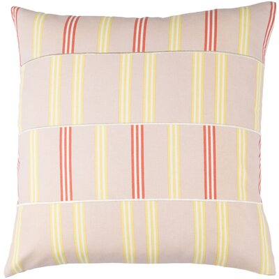 Lina Cotton Pillow Cover Size: 20 H x 20 W x 1 D, Color: Pink / Yellow