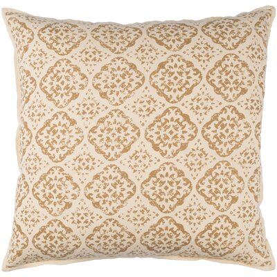 Dorsay Pillow Cover Size: 18 H x 18 W x 1 D, Color: Brown