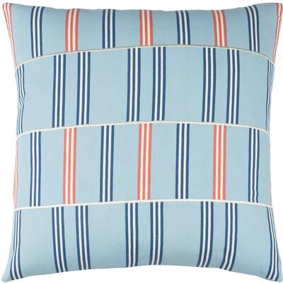 Lina Cotton Pillow Cover Size: 18 H x 18 W x 1 D, Color: Blue / Red