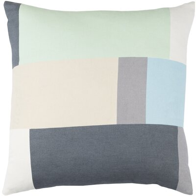 Lina Cotton Pillow Cover Size: 20 H x 20 W x 1 D, Color: Gray / Green