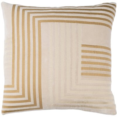 Intermezzo Cotton Pillow Cover Size: 20 H x 20 W x 1 D, Color: Beige / Tan