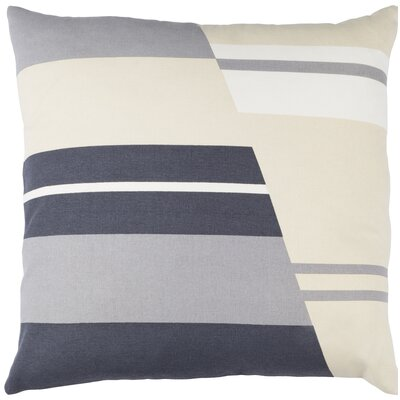 Lina Cotton Pillow Cover Size: 20 H x 20 W x 1 D, Color: Beige / Gray